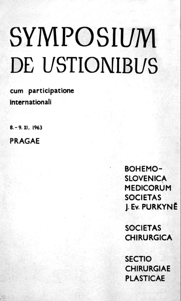 The First International meeting behind The Iron Curtain in Prague on the occasion of the 10th Anniversary of the Prague Burn Centre in 1963